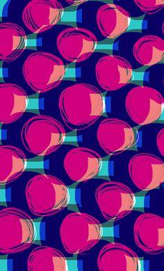 Large Spots hand drawn and digital pattern - Sarah Bagshaw