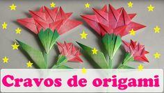 COMO FAZER CRAVOS EM ORIGAMI BIDIMENSIONAL Gato Origami, Instruções Origami, Origami Paper Folding, Diy Paper, Paper Art, Paper Crafts, Origami Instructions, Origami Tutorial, Easy Crafts For Teens