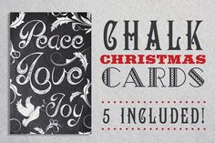 Chalk Christmas Card Bundle from DesignBundles.net