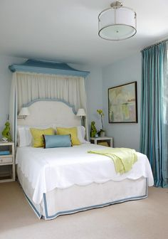 The Pink Pagoda: Interior Designer Anne Hepfer soft blue and white with citron