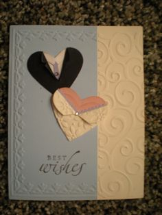 wedding wishes with heart punch
