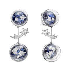 Chanel Sapphire & Diamond Elements Celestes Drop Earrings - photo c/o James Katt of Betteridge