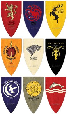 The main houses of GoT