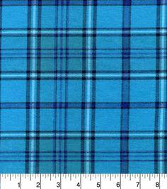 Snuggle Flannel Fabric-Aqua Purple Plaid