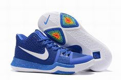 03d7bbd510a4 Cheapest Nike Kyrie 3 Royal Blue White Mens Basketball Shoes 2018 On Sale