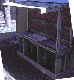 potting bench with sink | potting bench and outdoor sink using reclaimed wood - I've used an out ...