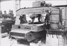 """The fabrication of the """"Tiger"""" at the factory."""