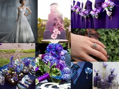 purple and blue inspiration board made from my pins