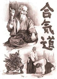 Morihei Uyeshiba - Aikido by Alleycatsgarden.deviantart.com on @deviantART