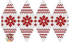 Knitting Patterns Christmas We knit the ball. Knit Christmas Ornaments, Crochet Ornaments, Beaded Ornaments, Christmas Cross, Xmas, Crochet Ball, Bead Crochet, Christmas Knitting Patterns, Christmas Embroidery
