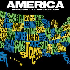 American Map for Pro Wrestling Fans