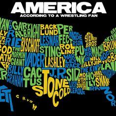 American Map for Pro Wrestling Fans