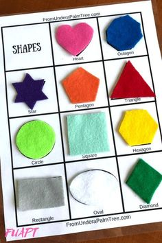 shape recognition worksheet - see if we can change some of the shapes to match our shape buttons