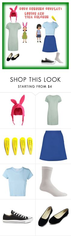 """Bobs Burgers outfits!!!"" by hunterscloset ❤ liked on Polyvore featuring Être Cécile, RE/DONE and Converse"