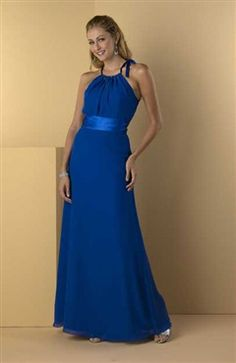 Sleeveless Floor-length Blues Ruffles #Bridesmaid #Dresses Style Code: 02751 $74
