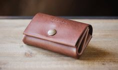 Leather card flip wallet | Cocuan | Handcrafted leather in Barcelona