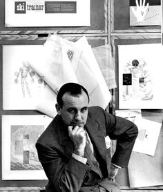 Lester Beall (1903–1969) was an American graphic designer notable as a leading proponent of modernist graphic design in the United States. His clear and concise use of typography was highly praised both in the United States and abroad. Throughout his career he used bold primary colors and illustrative arrows and lines in a graphic style that became easily recognizable as his own.