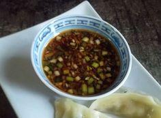 Gyoza Dipping Sauce ---- For Asian Dumplings. Gyoza Dipping Sauce Recipe, Potsticker Sauce, Dumpling Dipping Sauce, Dipping Sauces, Asian Recipes, New Recipes, Cooking Recipes, Favorite Recipes, Cooking Tips