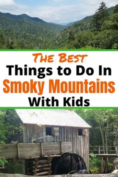 Plan Your Smoky Mountain National Park Vacation with the Best Things to Do with Kids. Fun activities the whole family will love. Visit Cades Cove, hike the Appalachian Trail & Clingman's Dome, take a family-guided tour, and more. Plus find out how to get there, where to stay, and Gatlinburg TN, & Pigeon Forge located outside the park. Be ready for an awesome trip to the Great Smoky Mountains with your kids! Family Vacation Destinations, Family Vacations, Vacation Ideas, Travel Destinations, Best Places To Travel, Cool Places To Visit, All Family, Family Travel, Road Trip Theme