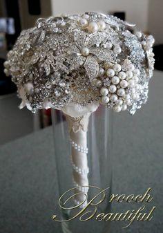 #broochbouquet #broochbeautiful #pearls #bling Pearl Bling Brooch Bouquet by www.broochbeautiful.com, $250