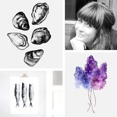 Say hi to Matilda Svensson! Amazing artist that creates beautiful posters! #nordicdesigncollective #matildasvensson #print #poster #watercolor #color #lilac #shell #silledille #nordic #design #nordicdesign #scandinavian #designer #meet #meetthedesigner