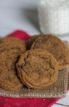 Soft and Chewy Ginger Cookies   The Baker Chick