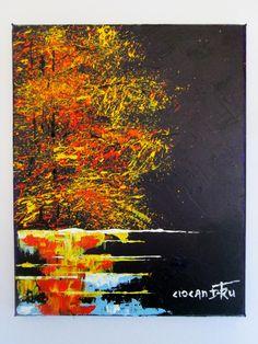 AUTUMN - NIGHT ON THE LAKE TOAMNA - NOAPTEA PE LAC Mod de realizare: acrilic pe panza Dimensiune : 30 X 24 cm Lucrare disponibila dumitruciocan@yahoo.com www.facebook.com/ciocan.dumitru Acrylic Paintings, Facebook, Abstract, Night, Artwork, Autumn, Work Of Art, Fall
