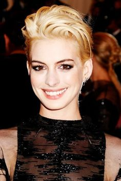 20 Pixie Cuts To Inspire Your Big Chop #refinery29  http://www.refinery29.com/pixie-haircut-inspiration#slide-8  Sure, Anne Hathaway is back to long, dark hair now. But how gorgeous was her turn with a bleached-blond pixie? ...
