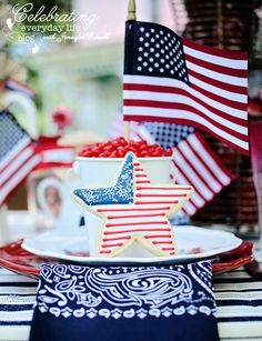 4th of July Party Decor, Independence Day Party, Backyard 4th of July party, star cookie, American Flag Decor