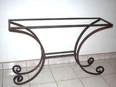 Ringos wrought iron console table base