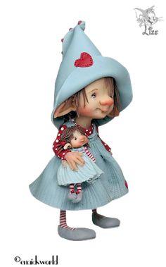 Alles voor en over PSP : TUBES LIZE Enaidsworld Clay Dolls, Felt Dolls, Doll Toys, Polymer Clay Projects, Polymer Clay Art, Clay Fairies, Fairy Figurines, Fairytale Art, Sculpture Clay