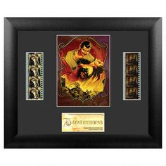 Celebrate the 75th Anniversary of Gone with the Wind with this framed film cel set, featuring two authentic film cels.