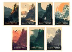 See some stunning prints for all of the main Harry Potter stories; on sale until October 25.