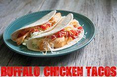 Easy Dinner Recipe: Buffalo Chicken Tacos