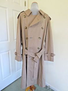 BURBERRY Trench Coat L Twill CottonPoly Men's Authenticated No Zip In Vest Liner #Burberry #Trench