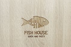 Fish Houselogo - $399 http://www.stronglogos.com/product/fish-house%C2%A0logo #logo #design #sale #gourmet #fish #seafood #restaurant #fast #food