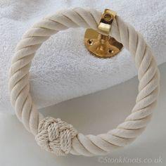 Cotton rope handtowel holder
