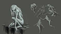 Rusalka concept by vidagr on DeviantArt Ghost Type, Rusalka, Water Element, Cryptozoology, Merfolk, Catch Em All, Detailed Image, Dungeons And Dragons, Mythology