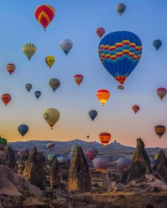 Hot air balloon rides in Turkey.