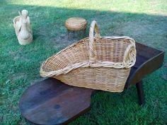 Basket Shuttle Style Cradle Sized Unique by AntiquesandVaria