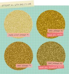 Gold glitter in photoshop, just what I needed