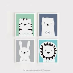 Druckbare Kindergarten Kunst-Set 4 Print INSTANT DOWNLOAD