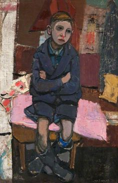 Boy on Stool by Joan Kathleen Harding Eardley Oil on canvas, 91 x 59 cm Collection: Paisley Museum and Art Galleries, Renfrewshire Council Collections, Including Collections Associated with the Paisley Art Institute Your Paintings, Paintings I Love, Artwork Paintings, Figure Painting, Painting & Drawing, Aberdeen Art Gallery, Gauguin, Paisley Art, Art Uk