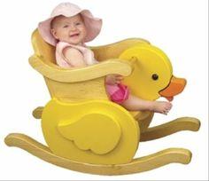 19-W3316 - Little Duckie Infant Rocker Woodworking Plan.