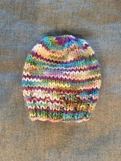 """This is a simple """"recipe"""" for knitted preemie hats. The pattern includes instructions for knitting the hats on either straight needles or DPNs (however, if you are knitting the hat on straight needles, there is a bit of seaming), as well as several different brim options."""