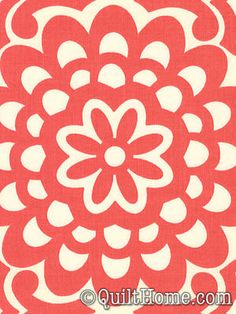 Lotus AB17-Cherry Fabric by Amy Butler