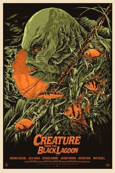 Creature from the Black Lagoon-I remember seeing this at the movies! Couldn't sleep for weeks!