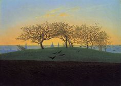 Caspar David Friedrich - Hills and Ploughed Field near Dresden. 1824
