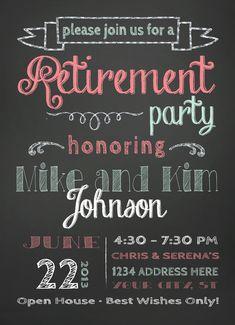Retirement Party Invitation by SLDESIGNTEAM on Etsy