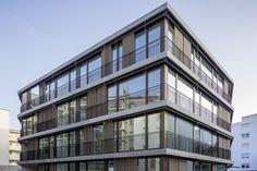Wohnhaus, Vogesenstrasse, Basel Sturz- und Sockelelemente; Architektur: Architektur Staehelin, Gisin + Partner AG, Basel Basel, Partner, Multi Story Building, Architecture, Homes, House